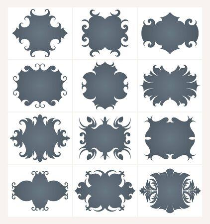 ornamente: Collection of design  frames