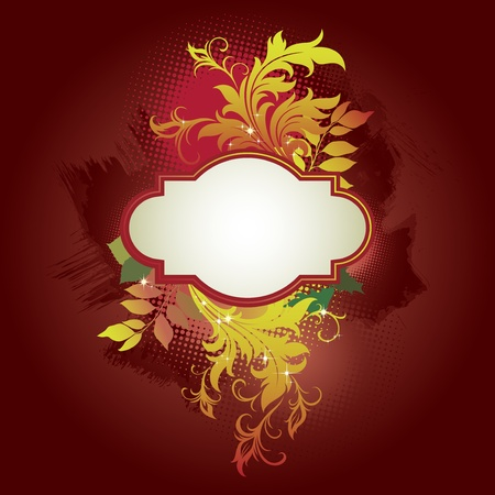 vector template frame In flower style Vector