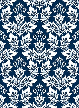 Seamless background from a floral ornament, Fashionable modern wallpaper or textile Stock Vector - 9390354