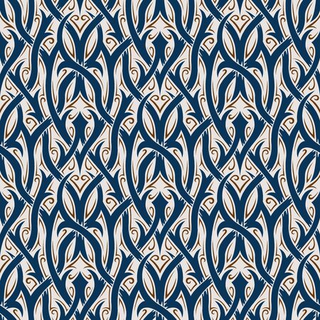 gothic revival: Seamless background from a floral ornament, Fashionable modern wallpaper or textile