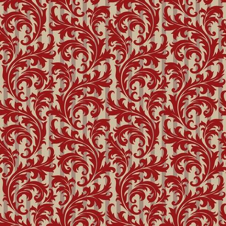 leafs: Sfondo senza soluzione di continuit� da un ornamento floreale, alla moda moderna carta da parati o tessile