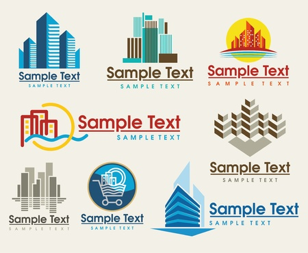 the set of city skyline signs Stock Vector - 9636967