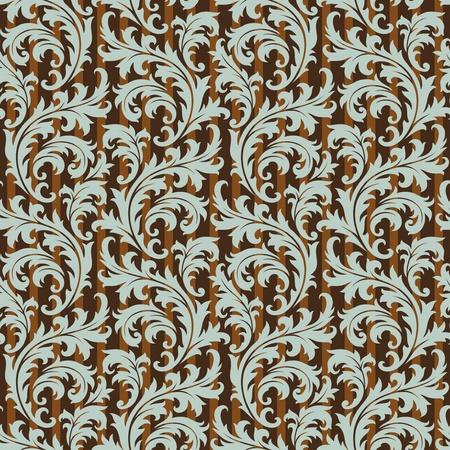 damast: Seamless Background Blumen Schmuck, Mode modern tapate oder textile