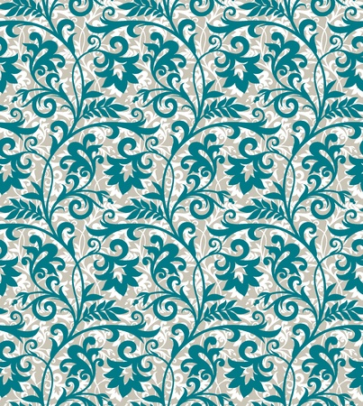 Seamless background from a floral ornament, Fashionable modern wallpaper or textile Stock Photo - 9636983