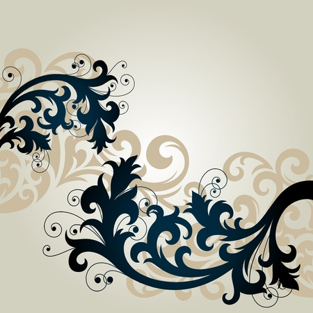 ornament In floral style Vector