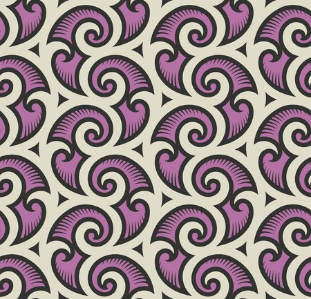 leaf curl: Seamless background from a floral ornament, Fashionable modern wallpaper or textile