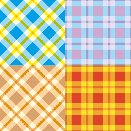 Set colorful repeating cell patterns Vector