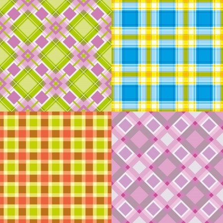 diagonal stripes: Set colorful repeating cell patterns Illustration