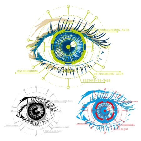 authorization: vector image of eyes security
