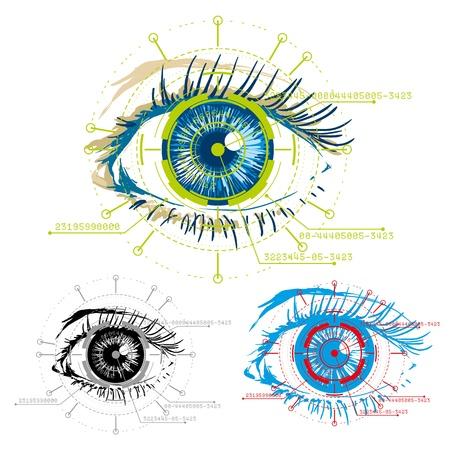 autorizacion: vector imagen de seguridad ojos