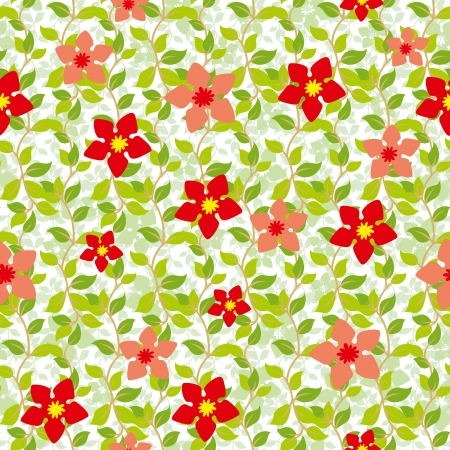 Seamless background from a floral ornament, Fashionable modern wallpaper or textile Stock Vector - 14665729