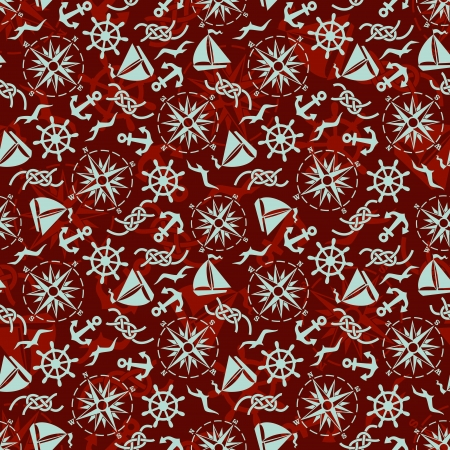 seamless pattern with sea  icons  일러스트