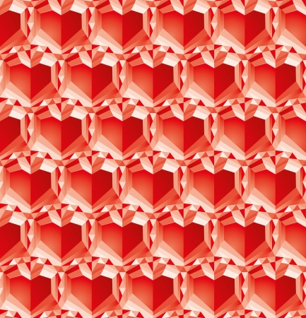 valentine diamonds background, abstract symbol Stock Vector - 17462494
