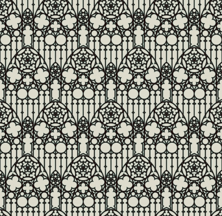 vector seamless background in gothic style