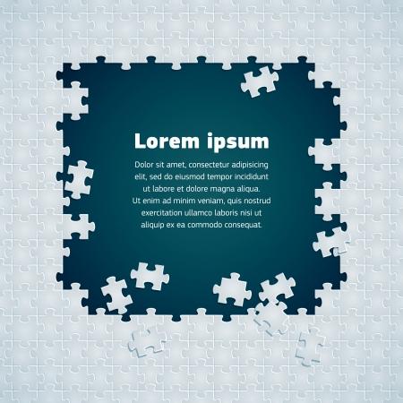 piezas de puzzle: imagen del vector textura de puzzle Vectores