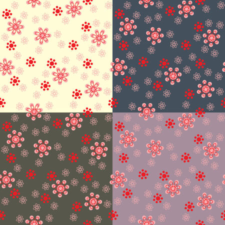 modern wallpaper: Seamless background from a flowerl ornament, Fashionable modern wallpaper or textile