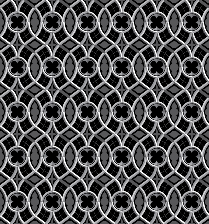 gothic church: vector seamless background in gothic style
