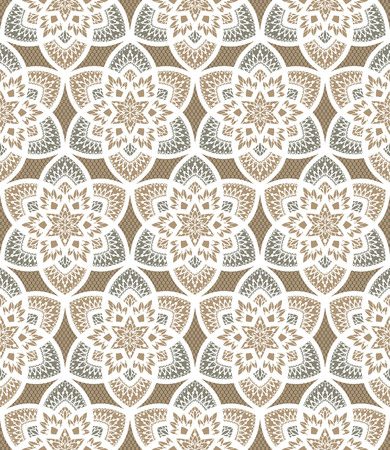 guipure: Seamless background from a vector ornament, Fashionable modern wallpaper or textile Illustration
