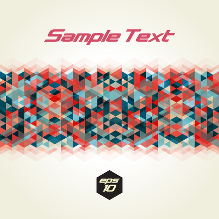 trendy tissue: Horizontal seamless abstract triangle pattern