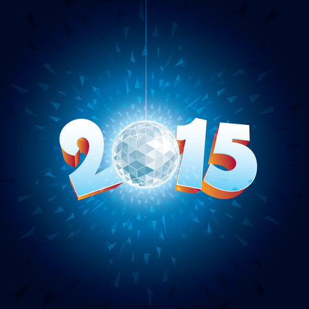 discoball: 2015 New Year Disco Ball with reflections.