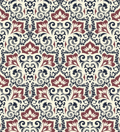 Seamless background from a vector ornament, Fashionable modern wallpaper or textile Ilustração