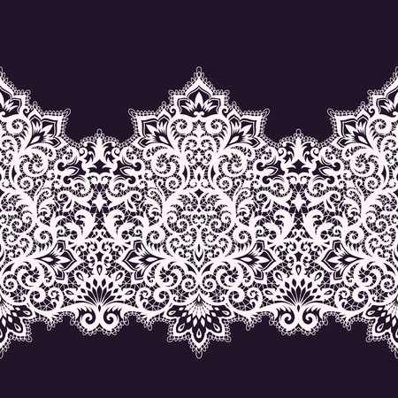 modern wallpaper: horizontal seamless background from a vector ornament, Fashionable modern wallpaper or textile Illustration