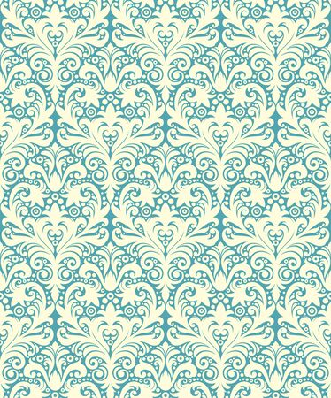 decorative pattern: Seamless background from a floral ornament, Fashionable modern wallpaper or textile