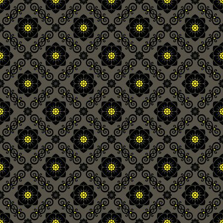 vintage flower: Seamless background from a flowerl ornament, Fashionable modern wallpaper or textile