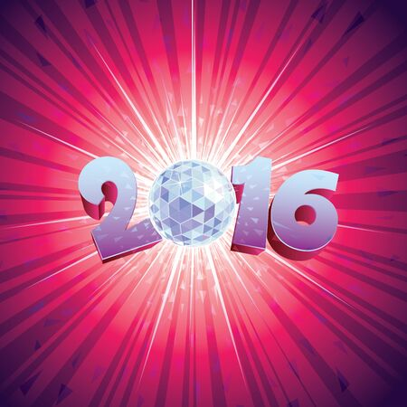 reflections: 2016 New Year Disco Ball with reflections.