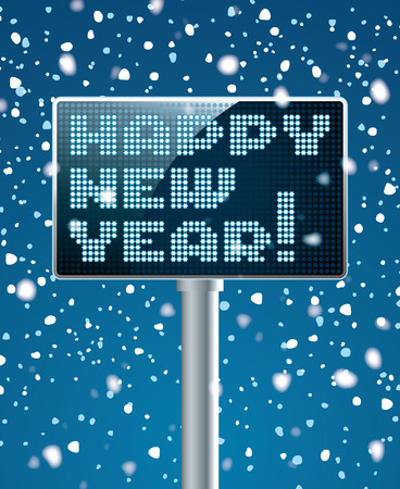 led screen: LED Screen electronic scoreboard with new year
