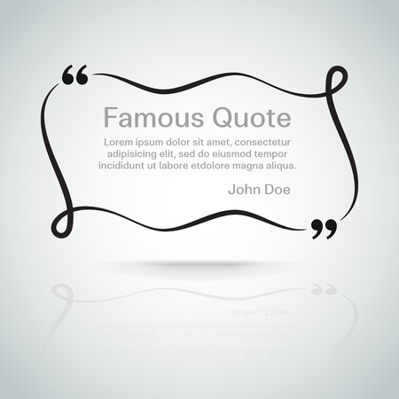 quotation marks: rectangle quote box with your text, quotation marks. Eps 10 vector illustration