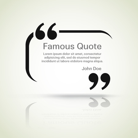rectangle quote box with your text, quotation marks.