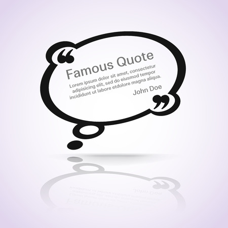quotation marks: rectangle quote box with your text, quotation marks