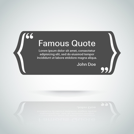 quotation: rectangle quote box with your text, quotation marks.