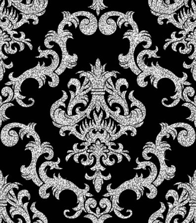 modern wallpaper: Seamless background from a floral silver ornament, Fashionable modern wallpaper or textile Illustration