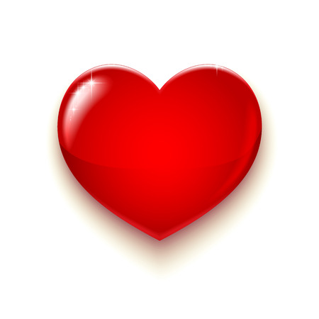 Großes rotes Herz für Valentines Tag und mehr, Vektor-Illustration