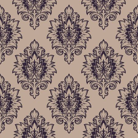 curves: Seamless background from a floral ornament, Fashionable modern wallpaper or textile