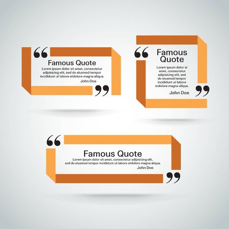 quotation marks: rectangle quote box with your text, quotation marks. Illustration