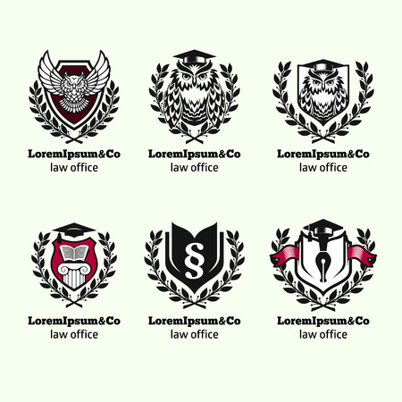 firm: Law logo set vector illustrator Illustration