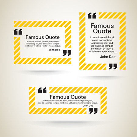 quotation marks: rectangle quote box with your text, quotation marks.