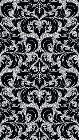 Seamless background à partir d'un ornement d'argent floral, papier peint ou textile moderne à la mode
