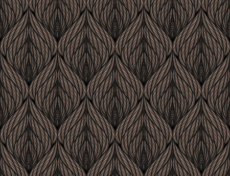 knitting: Seamless knitted vector background with symmetric ornament