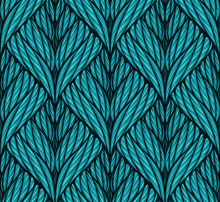 repeat pattern: Seamless knitted vector background with symmetric ornament
