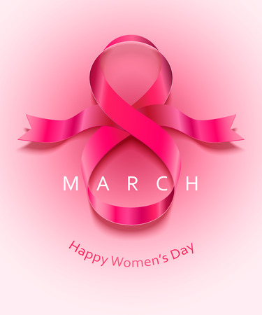 March 8 international womens day card. Vector illustration.