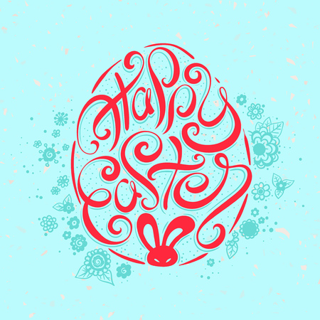 easter background: Happy Easter card. Easter background. Easter sunday. Easter egg. Easter hand lettering. Easter Holiday. Easter Vector. Handwritten Happy Easter lettering. Easter greeting card.