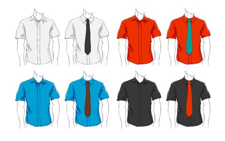 apparel: Vector set of clothes template for visualisation branding. Promo apparel.