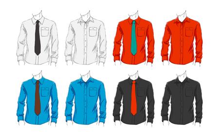 Vector Reihe von Kleidung Vorlage für die Visualisierung Branding. Promo Bekleidung.
