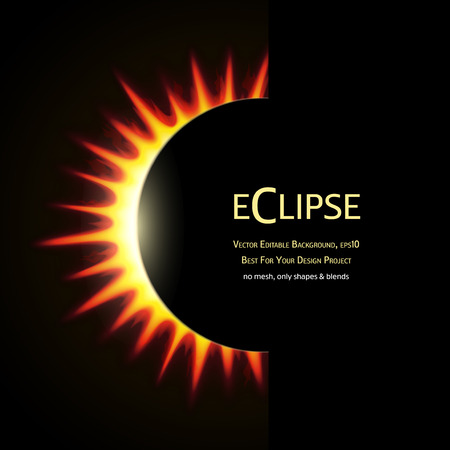 total: Vector Editable Background. Total eclipse of the sun. Eps10