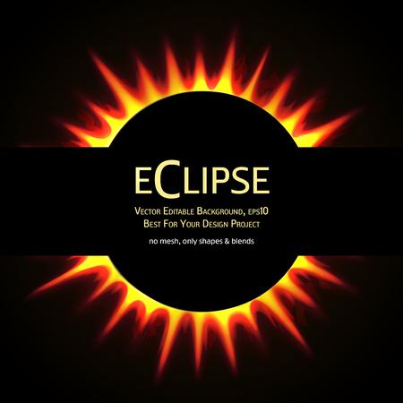 sole: Vettoriale modificabile sfondo. eclisse totale di sole. eps10