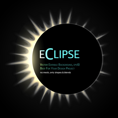 astral: Vector Editable Background. Total eclipse of the sun. Eps10